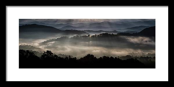 Mountains Framed Print featuring the photograph Hazed In Mystery by Leanne Trivett