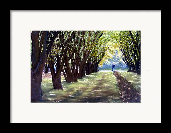 Orchard Framed Print featuring the painting Hazel Green by Carl Capps