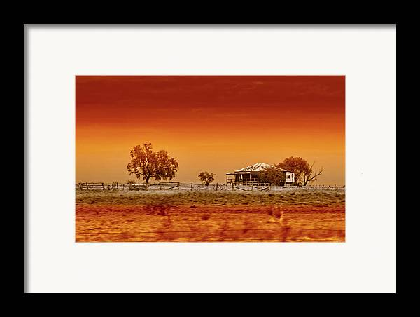 Landscapes Framed Print featuring the photograph Hazy Days by Holly Kempe