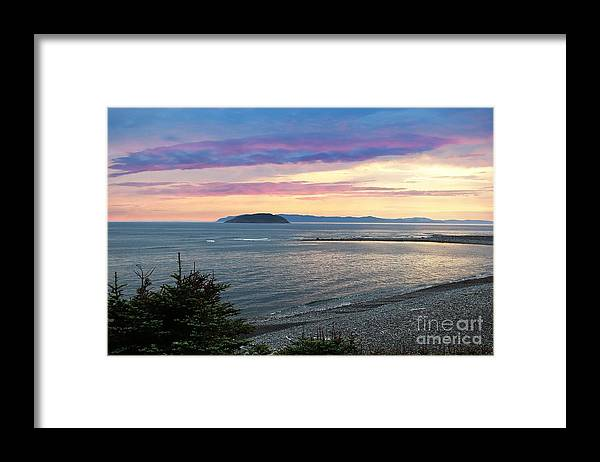 Barbara Griffin Framed Print featuring the photograph Hazy Evening Sunset by Barbara Griffin