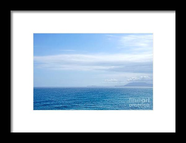 Photography Framed Print featuring the photograph Hazy Ocean View by Kaye Menner