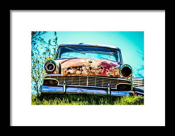 Framed Print featuring the photograph Hdr Car by McKinzi Gulickson