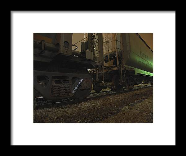 Hdr Framed Print featuring the photograph Hdr Rail Cars by Scott Hovind