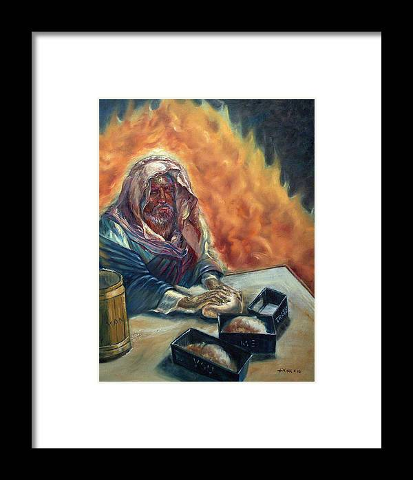 Jesus Framed Print featuring the painting He Don't Make No Trash by Tommy Winn