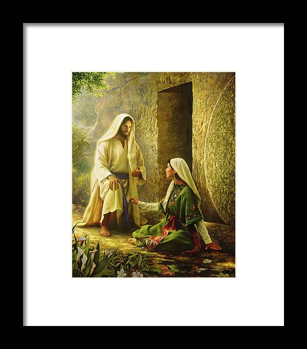 Jesus Framed Print featuring the painting He Is Risen by Greg Olsen