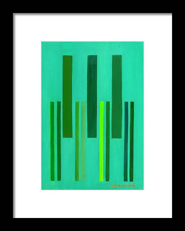 He Tu Framed Print featuring the painting He Tu Wood by Adamantini Feng shui