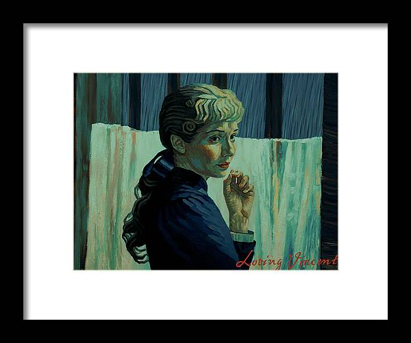 Framed Print featuring the painting He Was Happy Here by Maryna Savchenko