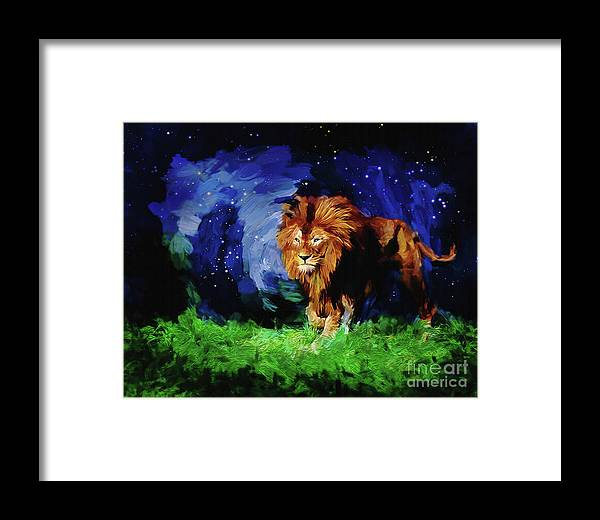 Christian Art Framed Print featuring the digital art He Who Keeps You by Ulanawa Foote