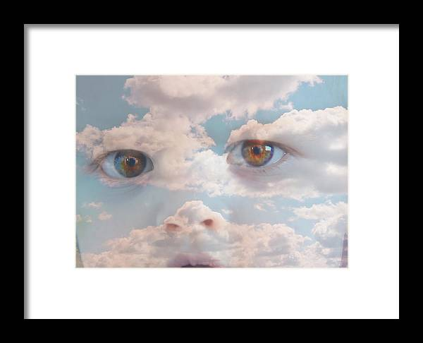 Portrait Framed Print featuring the photograph Head In The Clouds Part 2 by Alex Vass