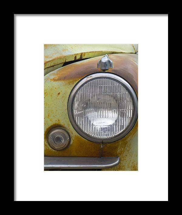 Vintage Framed Print featuring the photograph Head Light by Jeffery Ball