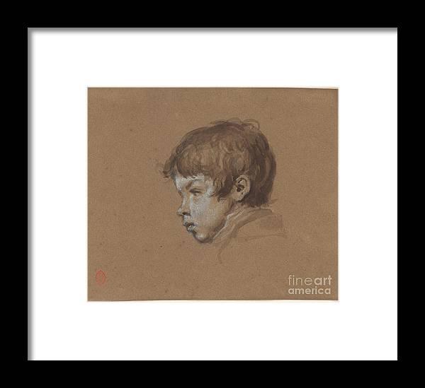 Ricardo De Los Rios 1846-1929 Head Of A Boy. Painting Framed Print featuring the painting Head Of A Boy by MotionAge Designs