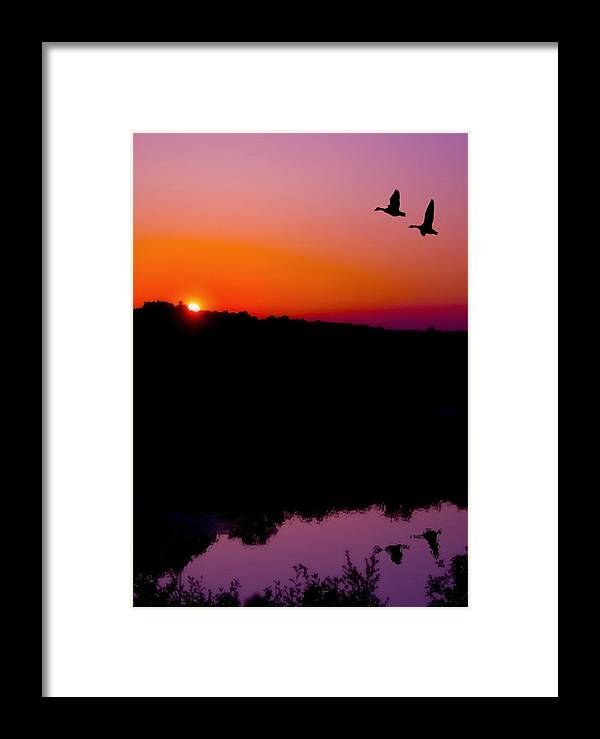 Sunset Framed Print featuring the photograph Heading Home by Kenneth Krolikowski