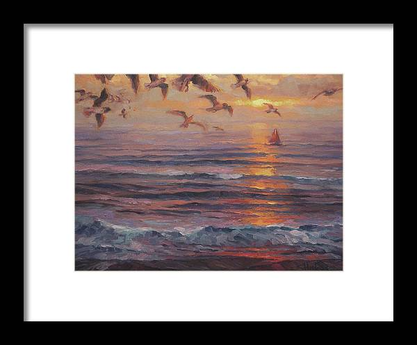 Coast Framed Print featuring the painting Heading Home by Steve Henderson