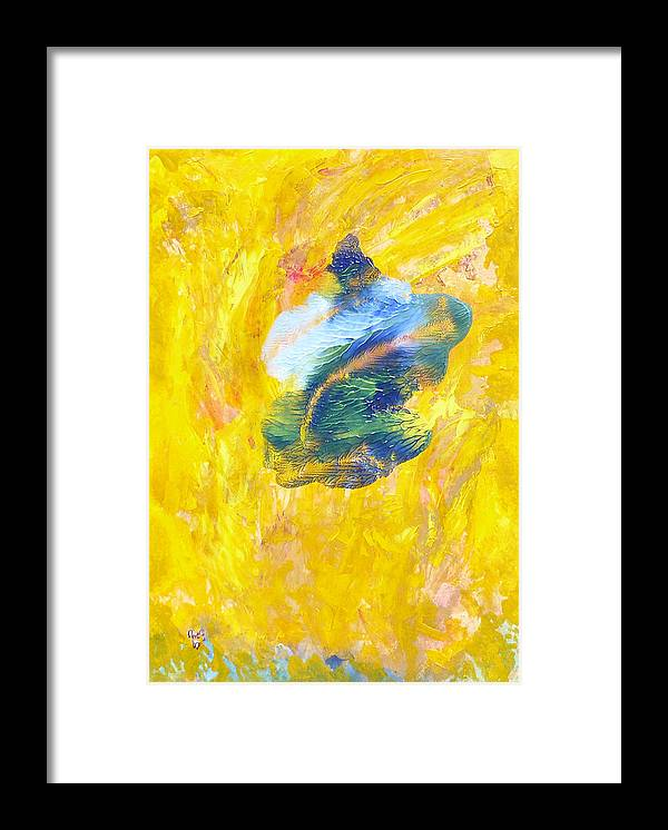 Symbolic Framed Print featuring the painting Heading West by Greg Gierlowski