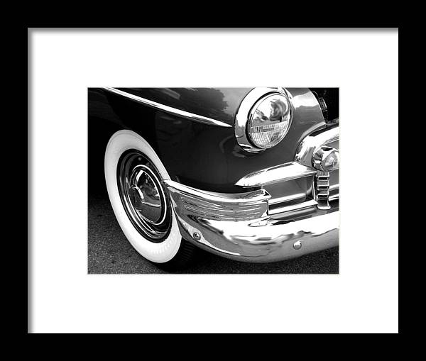 Car Artwork Framed Print featuring the photograph Headlight by Audrey Venute
