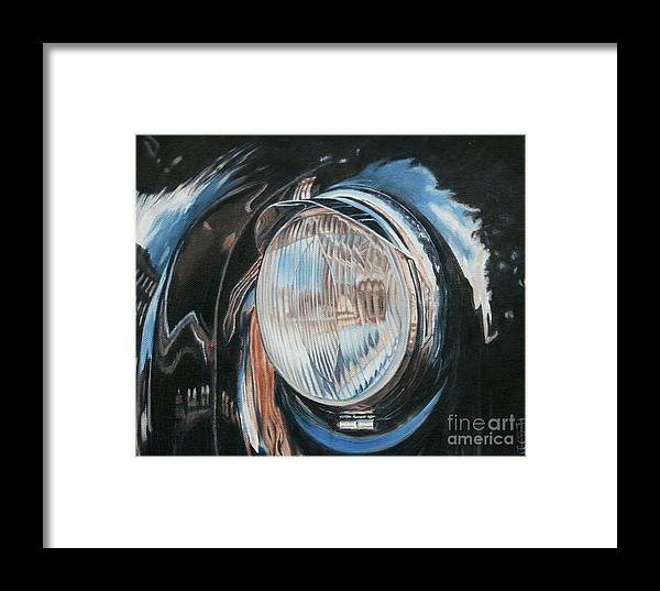 Classic Framed Print featuring the painting Headlight Study by Pauline Sharp