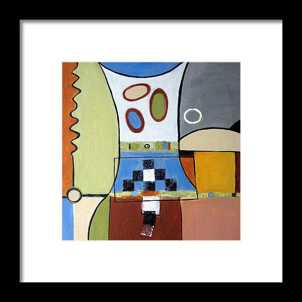 Abstract Framed Print featuring the painting Headspin by Ruth Palmer