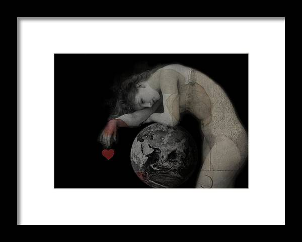 World Framed Print featuring the digital art Heal The World by Paul Lovering