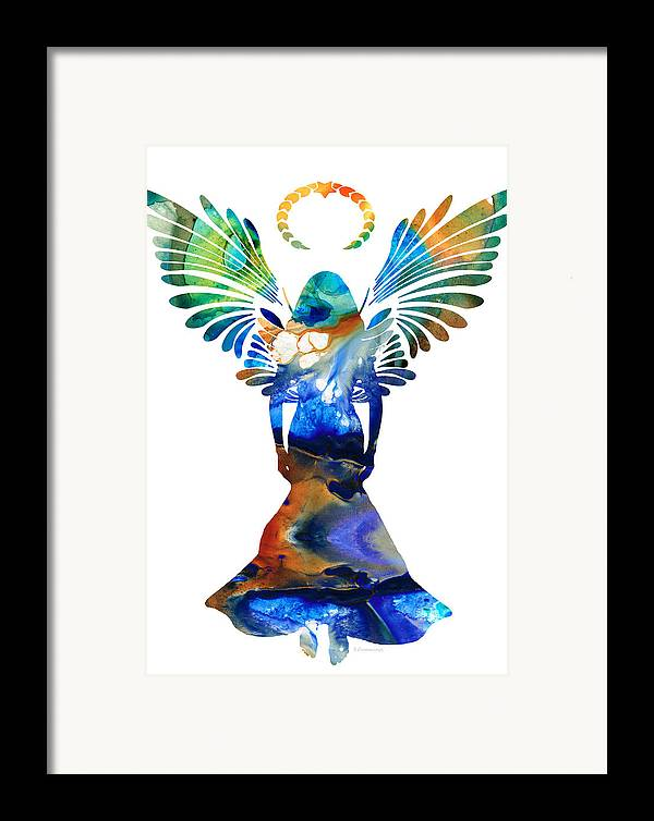 Guardian Framed Print featuring the painting Healing Angel - Spiritual Art Painting by Sharon Cummings