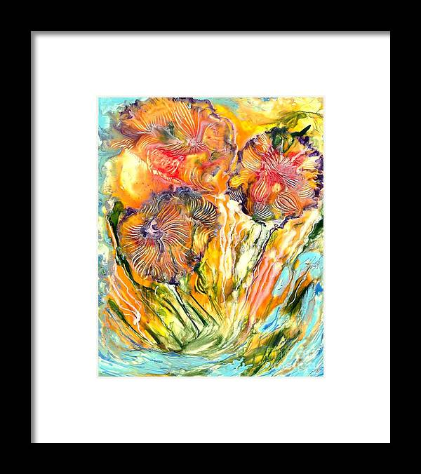 Healing Framed Print featuring the painting Healing Blossoms For Heather Ward by Heather Hennick