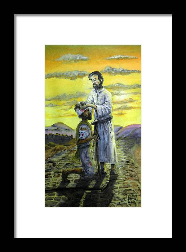 St. Luke Framed Print featuring the painting Healing Hands by Dan Bozich