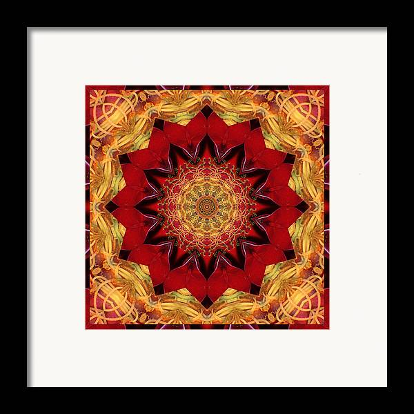 Mandalas Framed Print featuring the photograph Healing Mandala 28 by Bell And Todd