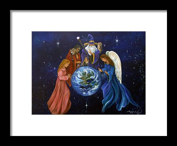 Earth Framed Print featuring the painting Healing Mother Earth by Sundara Fawn