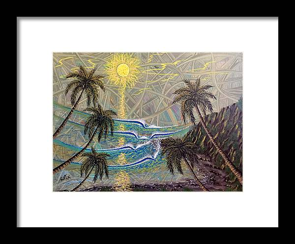Healing Framed Print featuring the painting Healing Sunset by Paul Carter