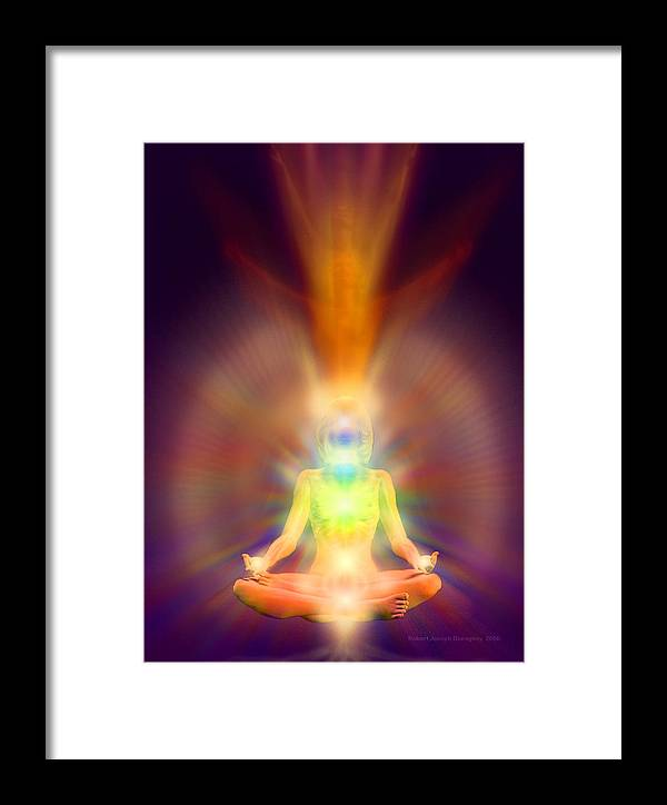 Healthy Aura Framed Print featuring the painting Healthy Aura by Robby Donaghey