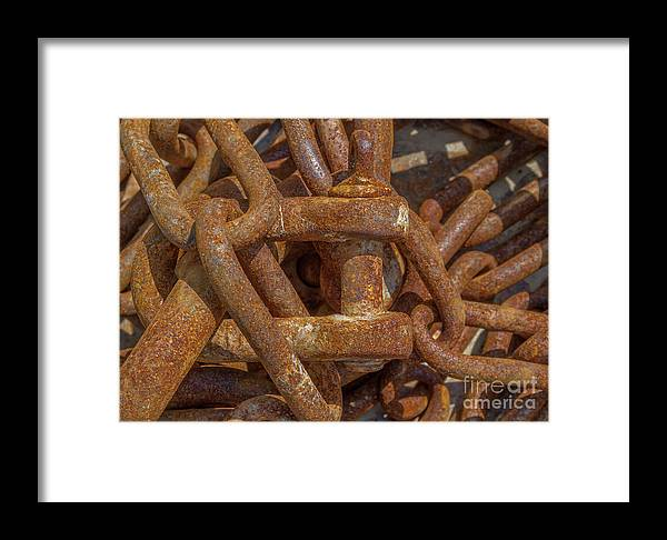 Background Framed Print featuring the photograph Heaped Chains 03 by Ricard Vaque
