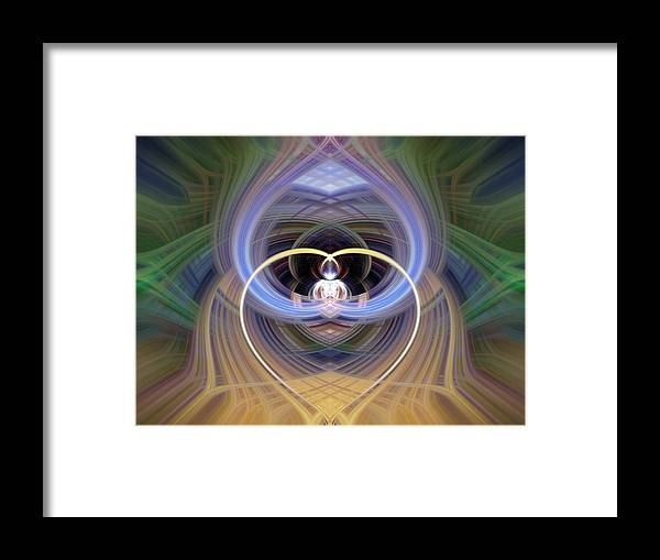 Heart Framed Print featuring the photograph Heart 15 - Yang by Dawn Eshelman