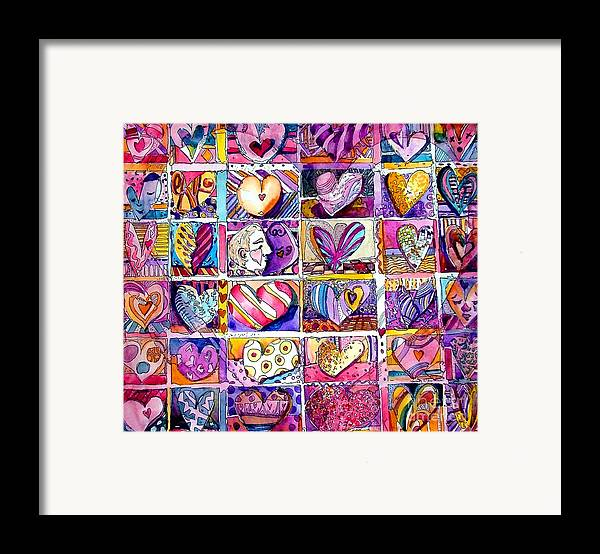 Love Framed Print featuring the painting Heart 2 Heart by Mindy Newman