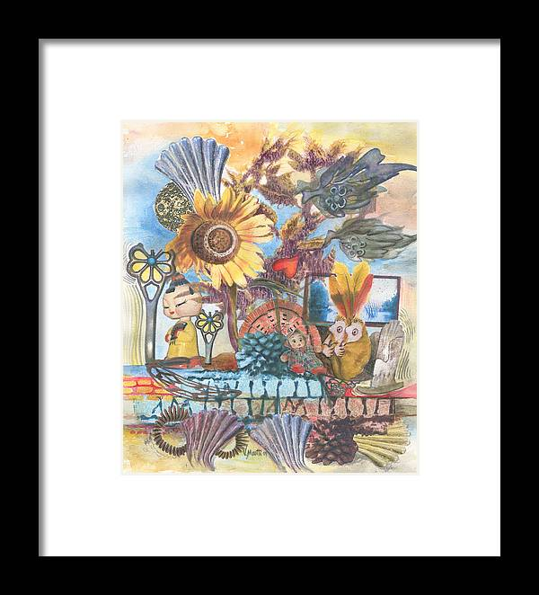 Abstract Framed Print featuring the painting Heart And Soul by Valerie Meotti