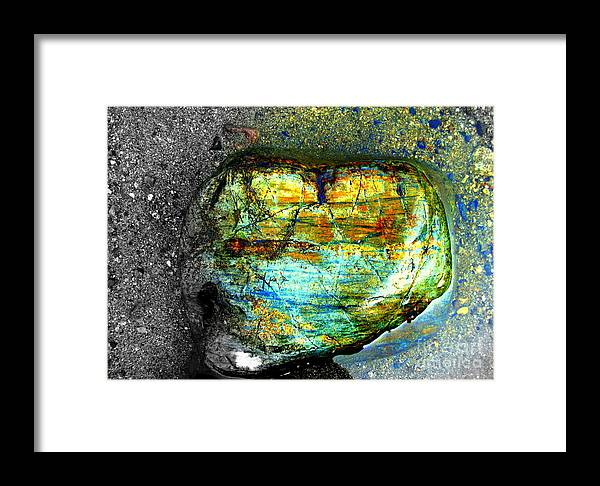 Lake Isabella Framed Print featuring the photograph Heart As A Rock by Claudia Sanchez