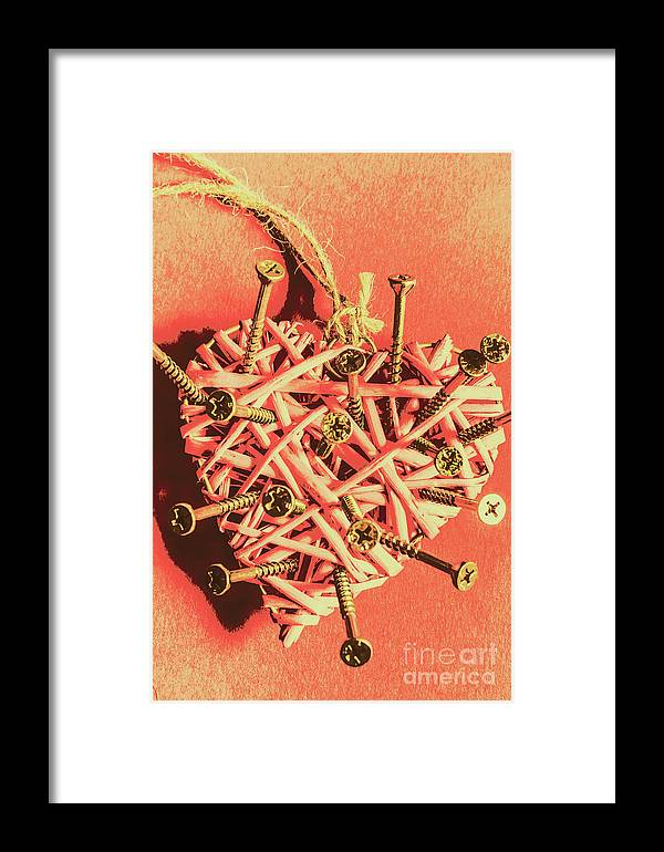 Vintage Framed Print featuring the photograph Heart Attack by Jorgo Photography - Wall Art Gallery