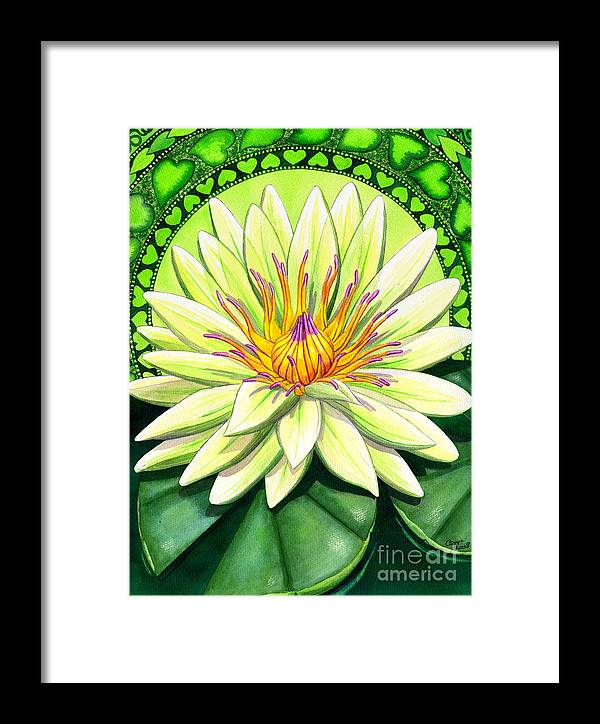 Heart Framed Print featuring the painting Heart Chakra by Catherine G McElroy