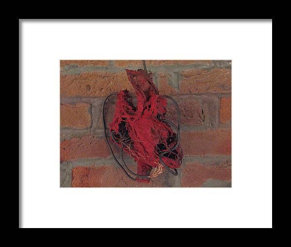 Heart Framed Print featuring the sculpture Heart by Kyle Ethan Fischer