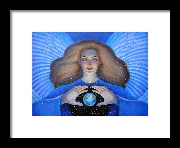 Goddess Framed Print featuring the painting Heart Of Creation by Sue Halstenberg