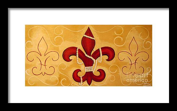 Fleur De Lis Framed Print featuring the painting Heart Of New Orleans by Valerie Carpenter