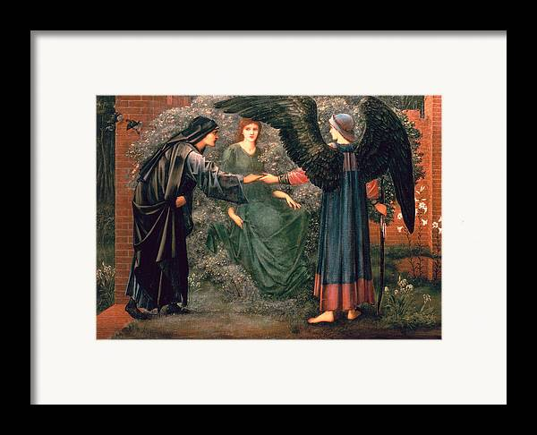 Heart Framed Print featuring the painting Heart Of The Rose by Sir Edward Burne-Jones