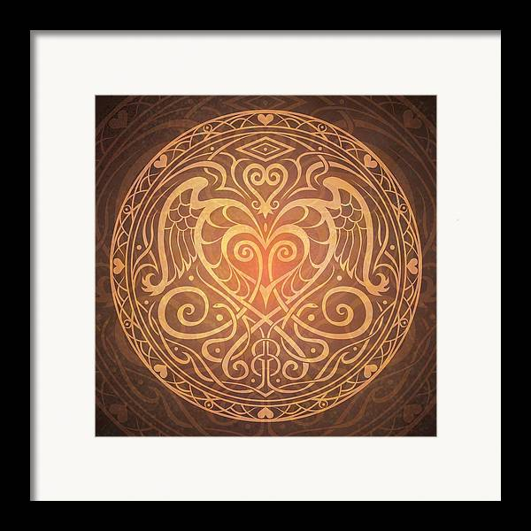 Mandala Framed Print featuring the digital art Heart Of Wisdom Mandala by Cristina McAllister