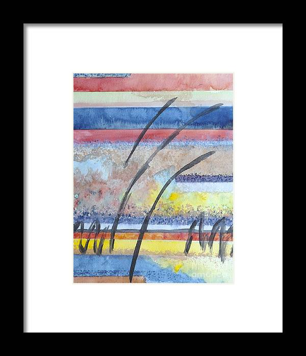 Abstract Framed Print featuring the painting Heartbeat by Jacqueline Athmann