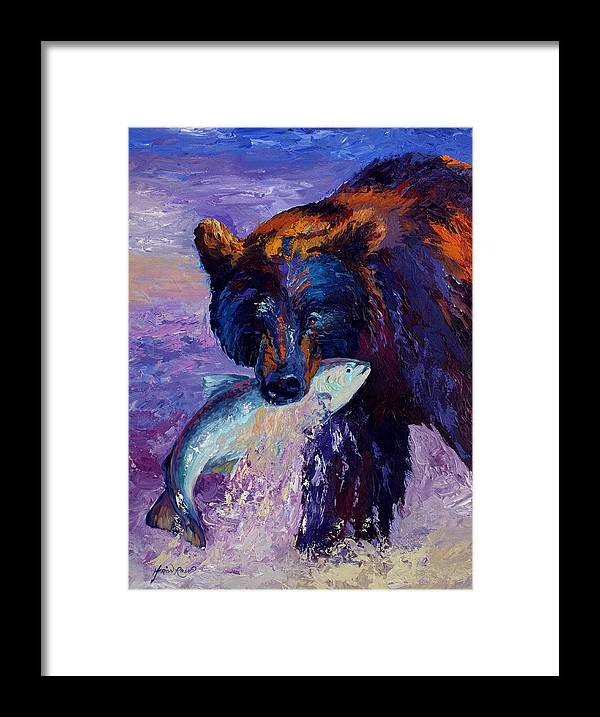 Bear Framed Print featuring the painting Heartbeats Of The Wild by Marion Rose