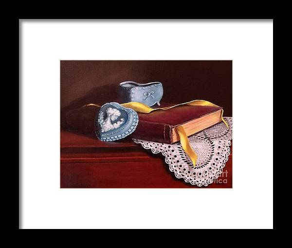 Book Framed Print featuring the painting Heartfelt by Patricia Lang