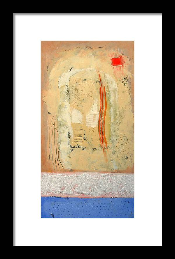 Abstract Framed Print featuring the painting Heat by Aliza Souleyeva-Alexander