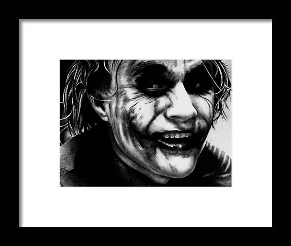 Heath Ledger Joker Framed Print