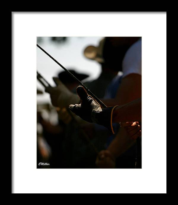 Rodeo Framed Print featuring the photograph Heatin Up The Rosin.. by Carol Miller