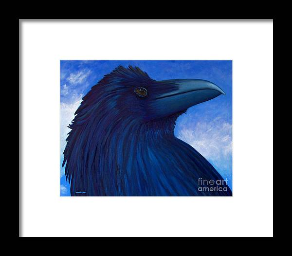 Raven Framed Print featuring the painting Heaven Bound by Brian Commerford