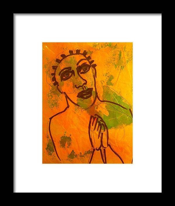 Religious Art Christian Art Framed Print featuring the painting Heaven In The Ghetto Prayers by Troix Johnson