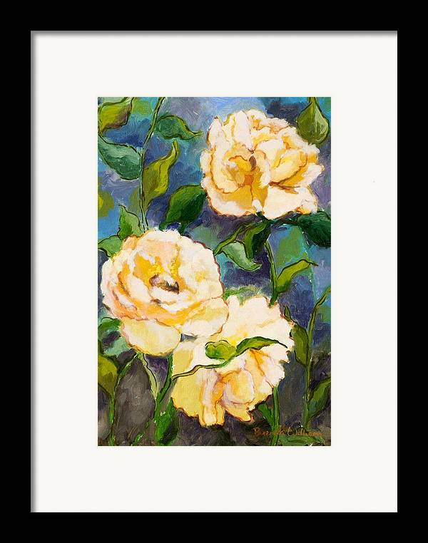 Roses Framed Print featuring the painting Heaven On Earth Roses by Brenda Williams